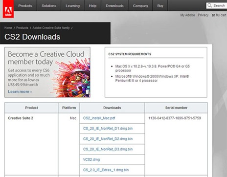 adobecs2download